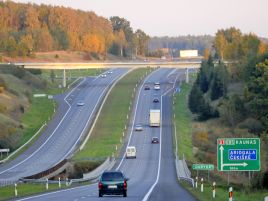 Reconstruction of the road Vilnius–Kaunas–Klaipėda of the Trans-European network. Phase I.