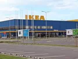 Landscaping works around the IKEA store at Žirnių g. in Vilnius